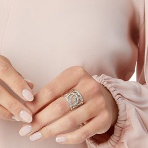 {Brighton} silver scroll wide ring one size